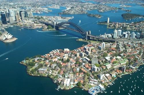 SydneyHarbourBridgeFromAbove