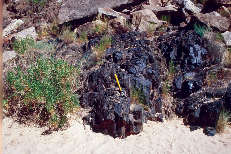 outcrop-amphibolite