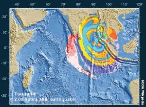 2 hours after earthquake