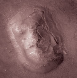 A picture from the Mars Global Surveyor revealed there was no 'face'
