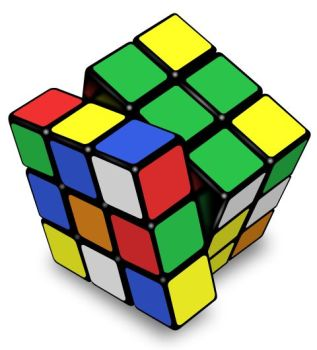 Rubki's cube, used to illustrate the concept of probability calculations.