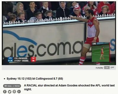 Adam Goodes ape slur incident