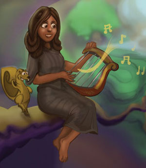 cains-wife-playing-lyre