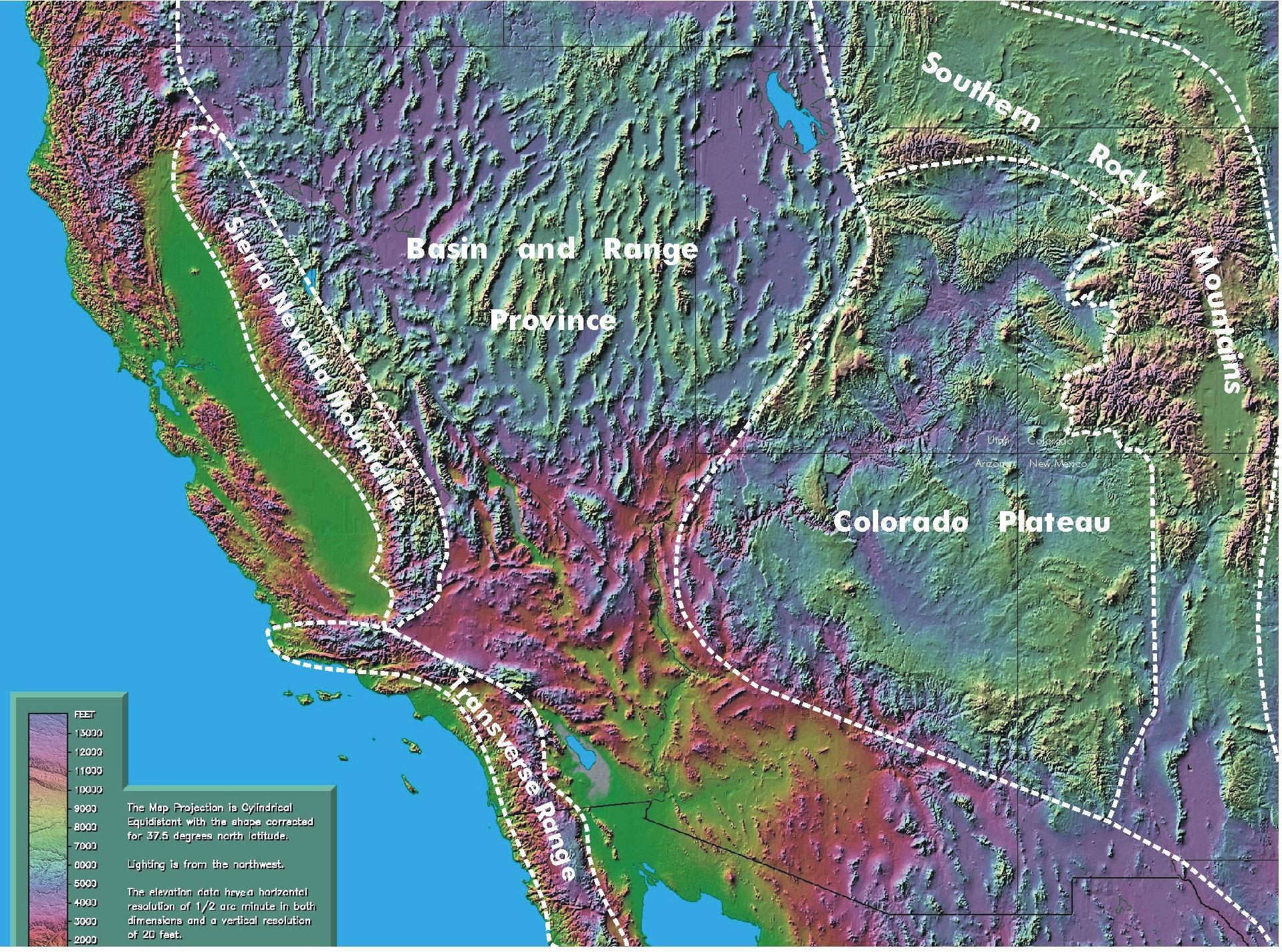 Flood Boundary Erosion Creationcom - Map of colorado plateau region