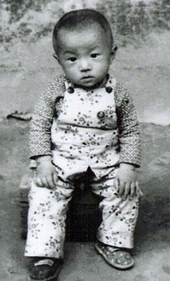 Dr Yingguang Liu as a child