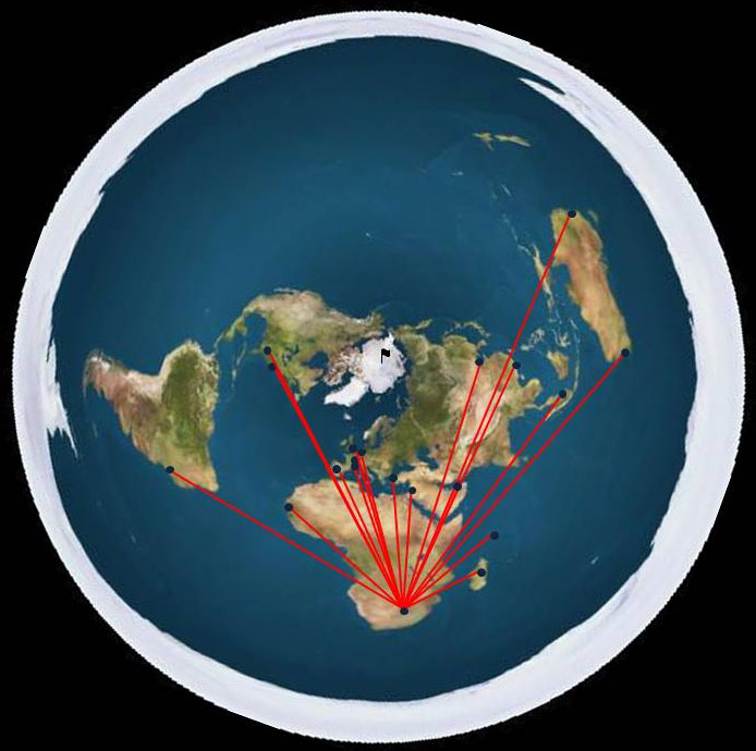 New Flat Earth Map.A Direct Test Of The Flat Earth Model Flight Times Creation Com