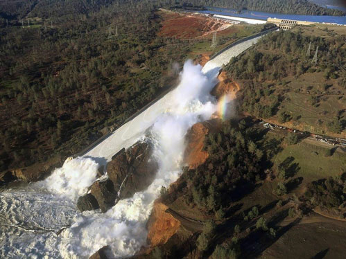 Spillway-under-high-flow
