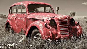 rusty-red-car
