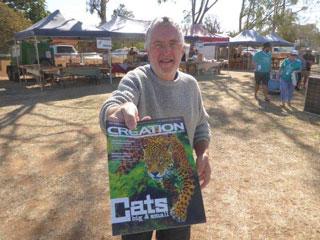 Ian-handing-out-magazine