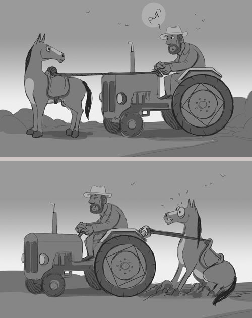 Tractor-Horse