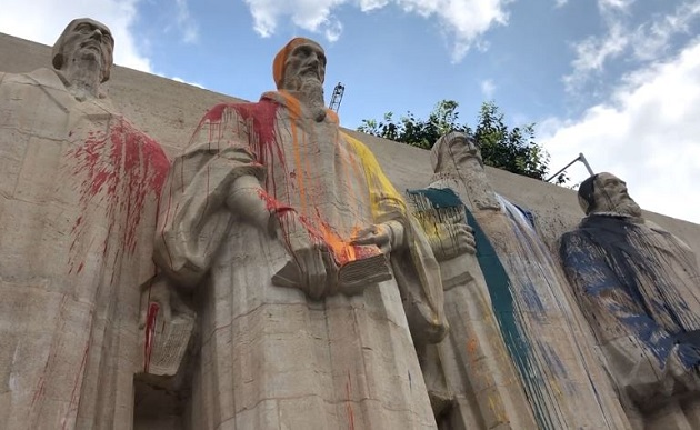 Reformation Wall Vandalized Yet Again - creation com