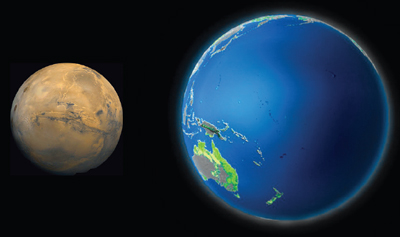 Mars-earth