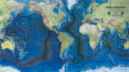 Bathymetric-map
