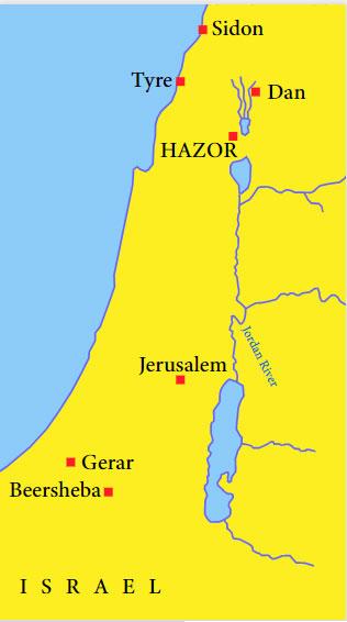 location-of-Hazor