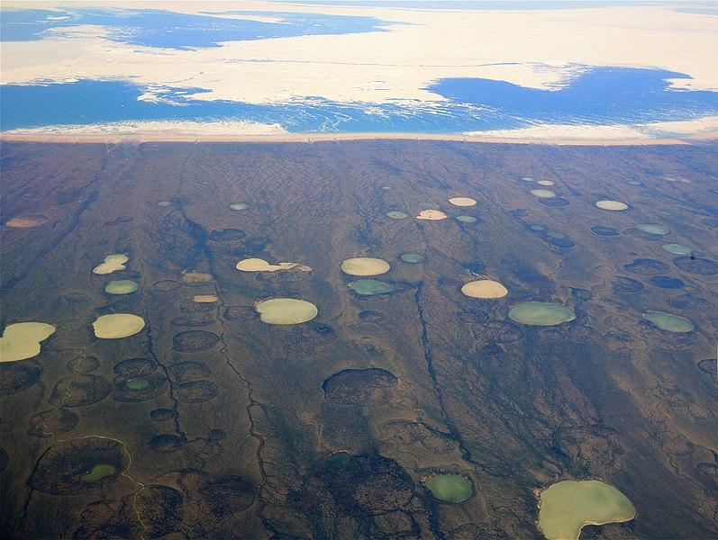 Permafrost-thaw-ponds-Hudson-Bay-Canada