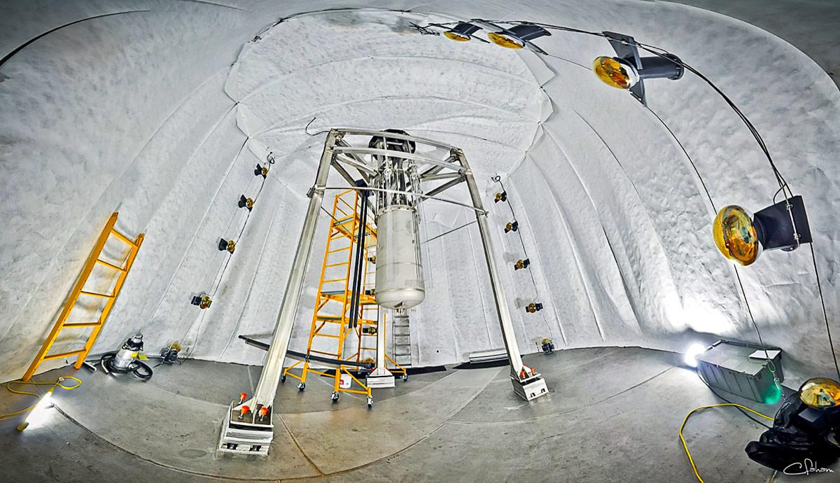 Large-underground-Xenon-detector-inside-watertank