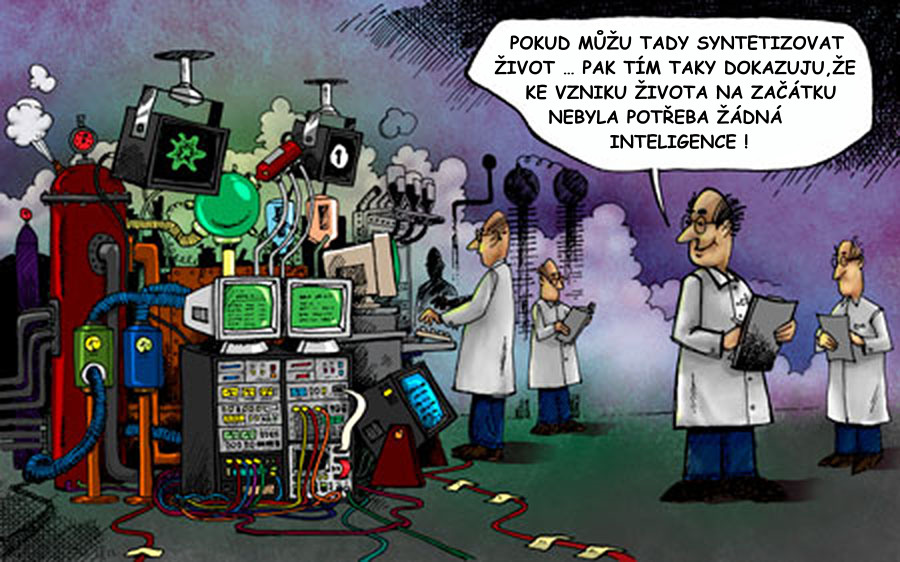 Scientist-synthesize-life-machine