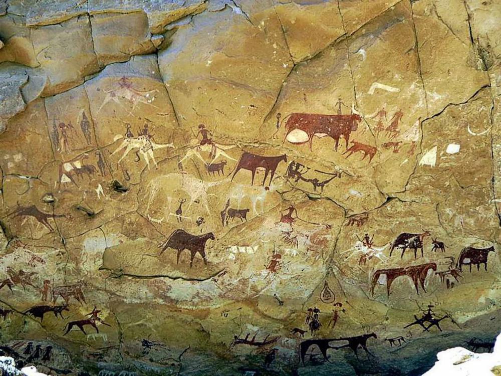Rock-paintings-Manda-Gueli-Cave