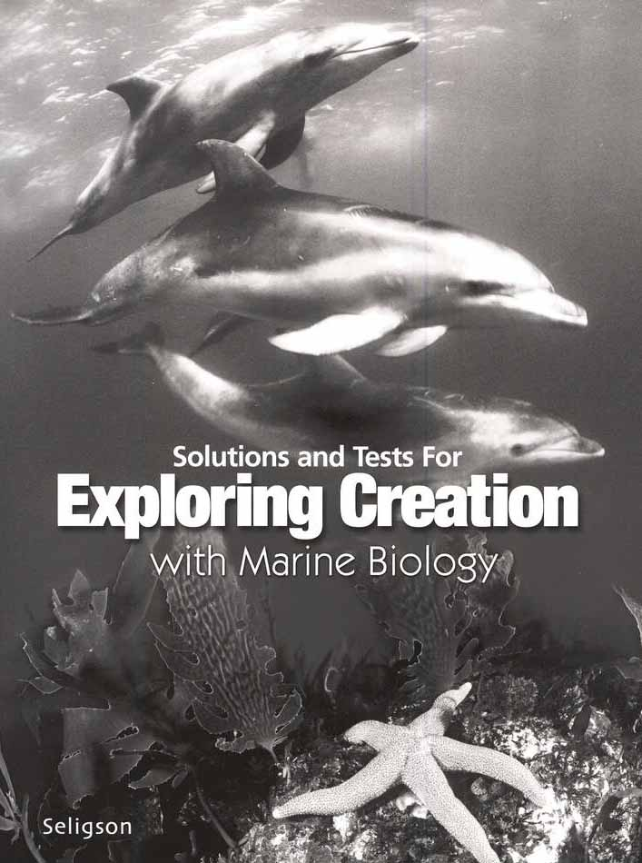 Exploring Creation with Marine Biology: Solutions & Tests