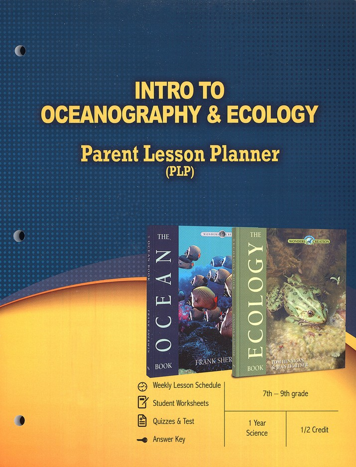 Intro to Oceanography & Ecology: Parent Lesson Planner